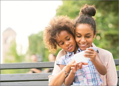 Mom and daugher e-services